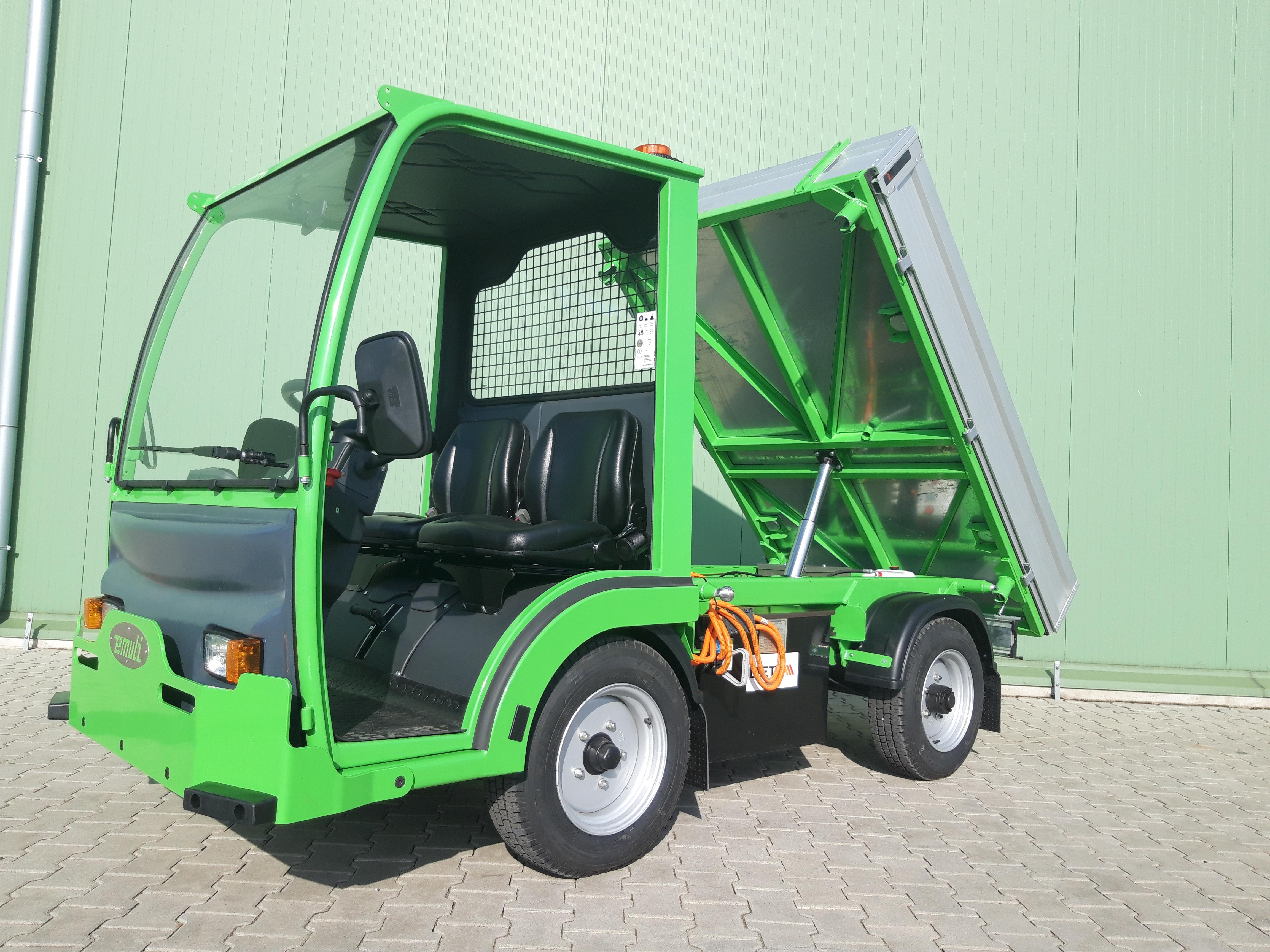 Elektryczny Pojazd Transportowo Platformowy Wywrotka EWTW 2.02