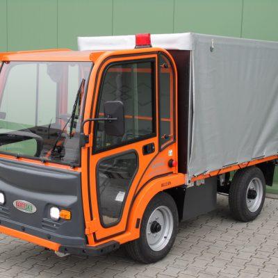 Elektryczny Pojazd Transportowo Platformowy z plandeką